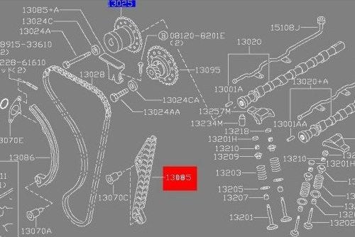 timing chain guide sr20det    sr20 engines  u2013 nissan race shop
