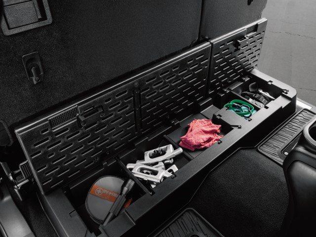 Rear Under-Seat Lockable Storage Bin – 2016+ Nissan Titan Crew Cab