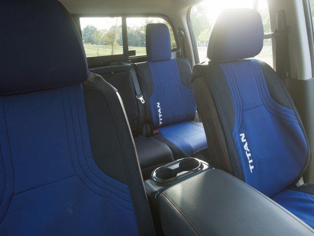 Genuine Nissan Water Resistant Seat Cover – Wet Suit (Blue) – 2016+ Titan Crew Cab