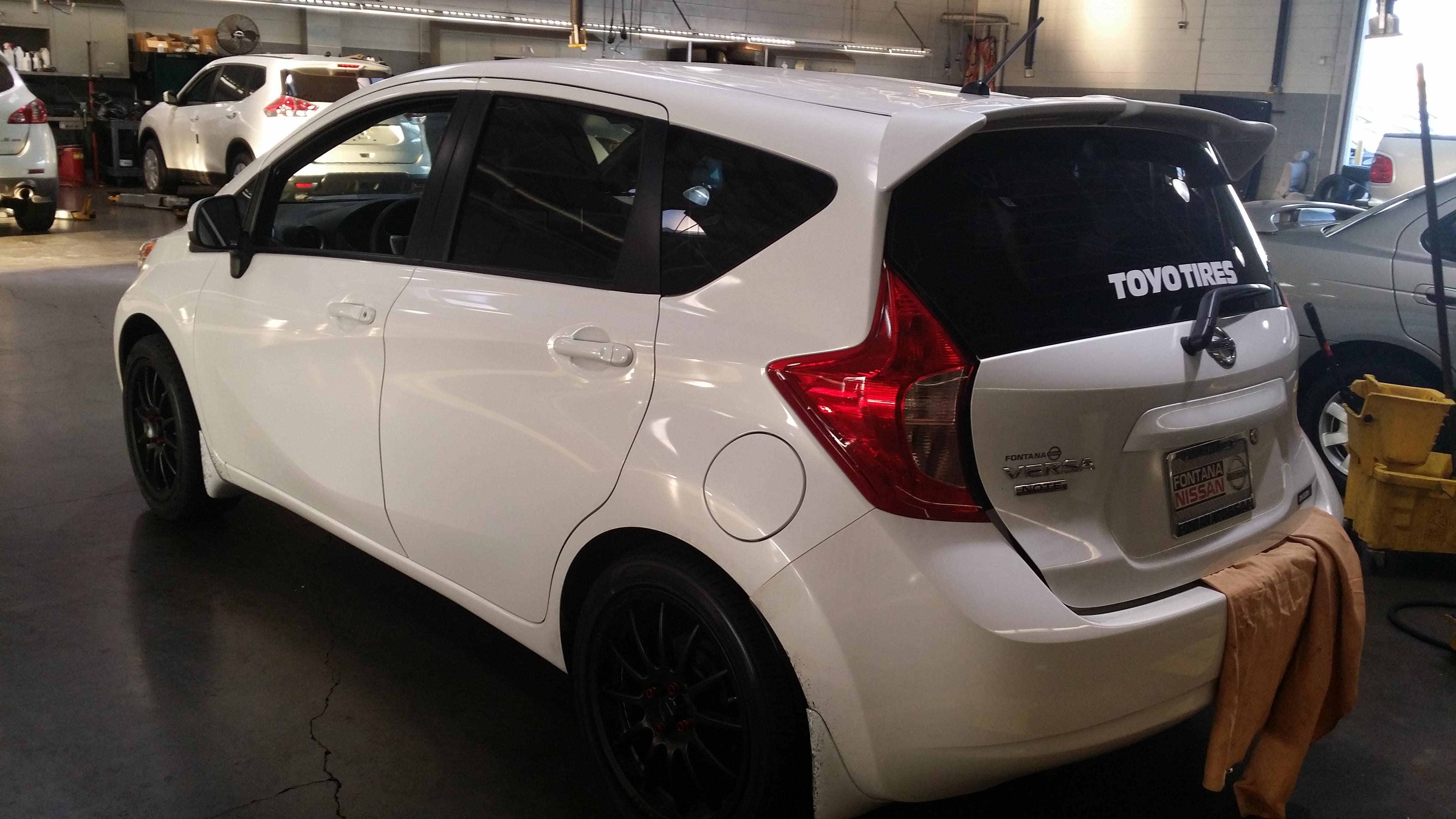 Genuine Nissan Rear Roof Spoiler U2013 2014+ Versa Note