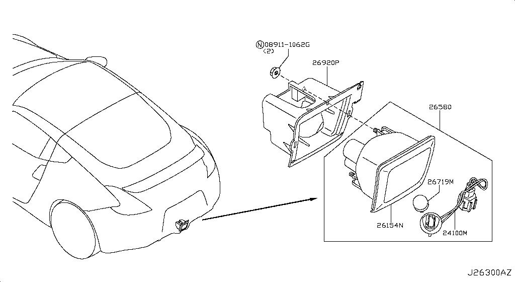 wiring diagram for subaru rear fog light